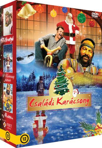 Családi karácsony díszdoboz 3 DVD Télbratyó A karácsony története Aladdin