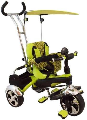 Baby Mix Maxi Trike prémium Tricikli tolókarral sárvédővel és lábtartóval #zöld