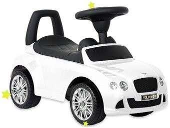Baby Mix Bentley lábbal hajtható zenélő és világító autó gyerekeknek (fehér)