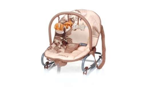 4 Baby Jungle rezgő pihenőszék (bézs)