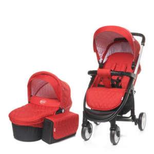 4 Baby Atomic 3in1 multifunkciós Babakocsi #piros