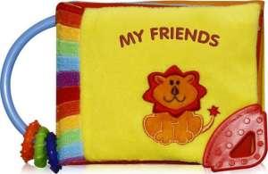 Lorelli zenélő készségfejlesztő könyv - My Friends 30316169 Textil könyv gyerekeknek