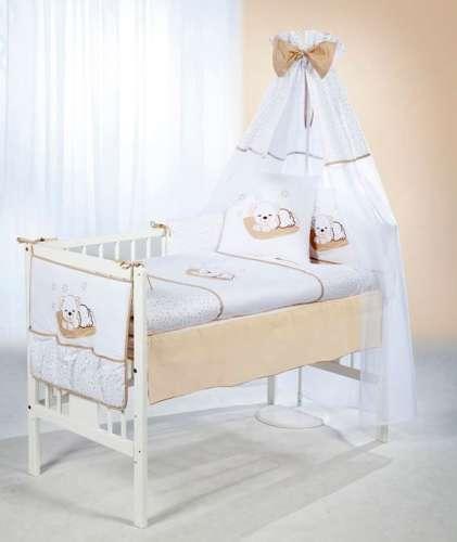 Klups 5részes Ágynemű #fehér-bézs álmos macis
