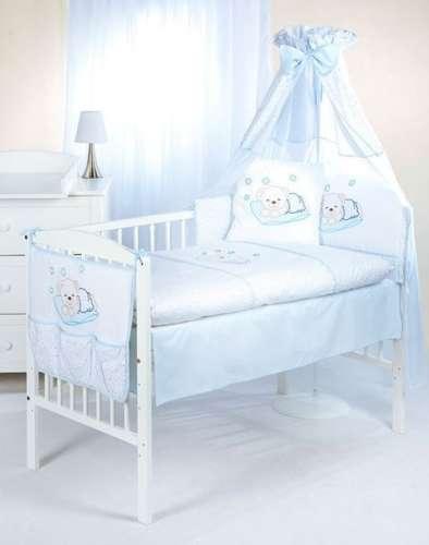 Klups 5részes Ágynemű #fehér-kék álmos macis