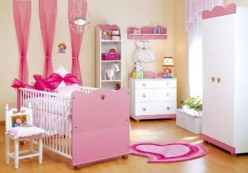 Klups - hercegnős 2ajtós Szekrény #rózsaszín-fehér