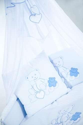 Klups 2részes Ágynemű #fehér-kék macis