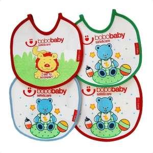 BoboBaby kicsi gumis Előke - Maci #piros