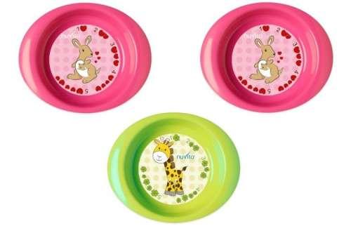 Nuvita 3db-os mély tányér szett 1422 #rózsaszín-zöld