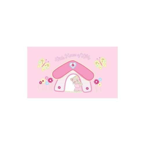 Bobobaby Ajándék szett  - díszdobozban#rózsaszín cica ház Takaró+ Előke