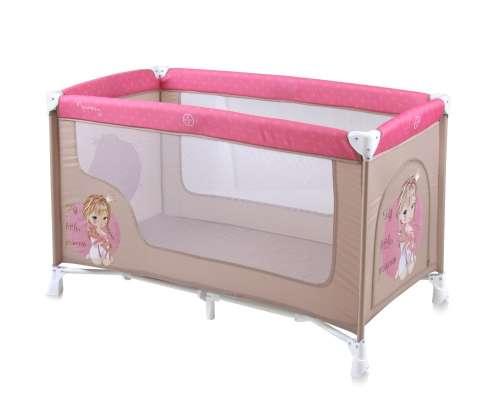 Lorelli Nanny 1 Utazóágy #bézs-rózsaszín #hercegnős