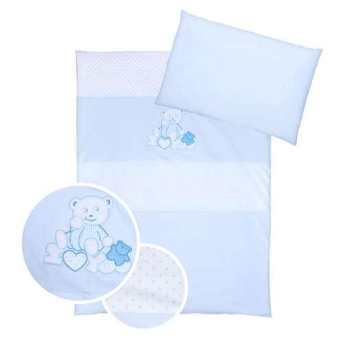 Klups 4részes Ágynemű - iLoveYou Maci #fehér-kék