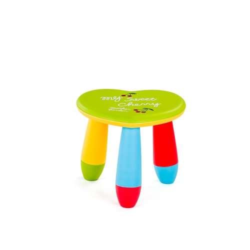 Chipolino műanyag kis szék #szív alakú #zöld