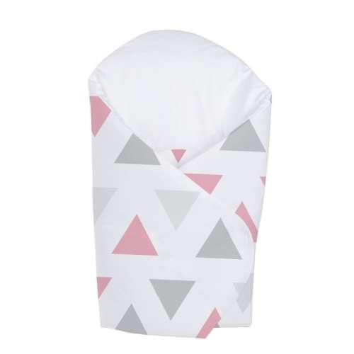 Klups Pólya - háromszöges #rózsaszín-szürke ágynemű termékcsaládhoz