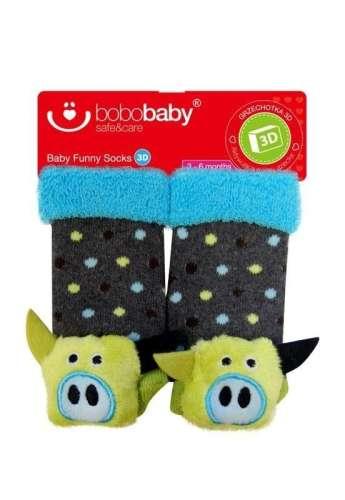 Bobobaby Ajándék szett oroszlán takaró 3D zokni #kék