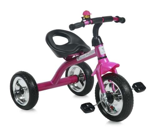 Lorelli A28 Tricikli #rózsaszín #fekete