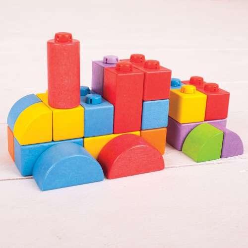 Bigjigs összepattintós kocka - közepes csomag