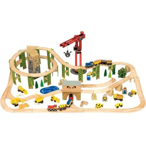 Bigjigs építkezés-vasút Szett #116db