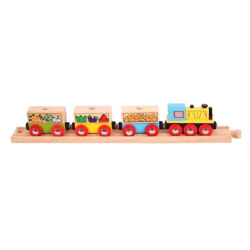 Bigjigs #zöldség és gyümölcs vonat