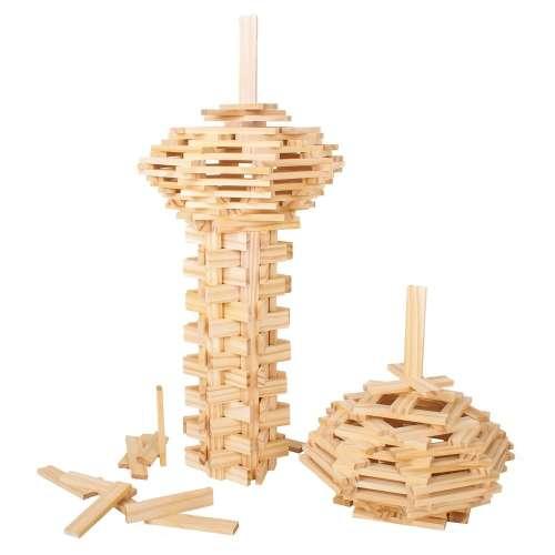 Bigjigs kreatív építő - natural - 200 db
