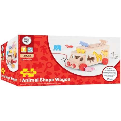 Bigjigs teherautó állatos formákkal