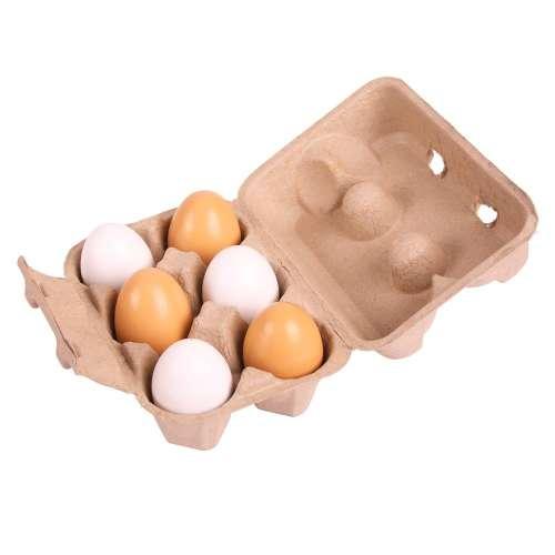 Bigjigs 6 db tojás tartóban
