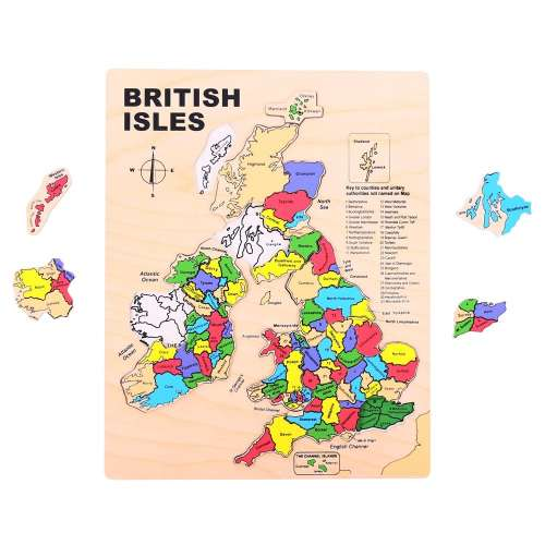 Bigjigs Brit szigetek fából készült puzzle