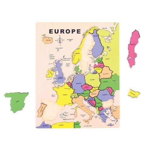 Bigjigs - Európa - fából készült puzzle