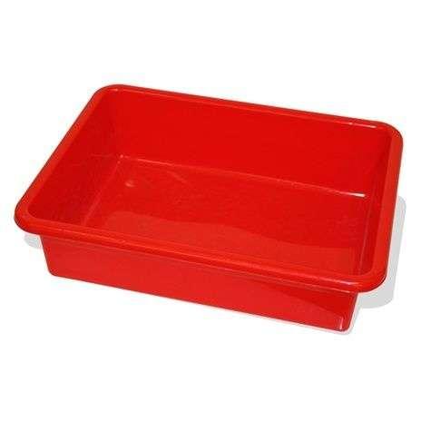 Bigjigs tároló doboz terepasztalhoz - piros 2db