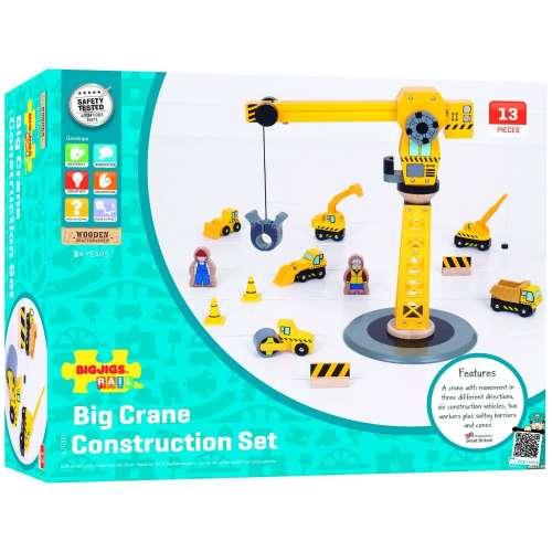Bigjigs nagy #sárga daru építkezési Szett