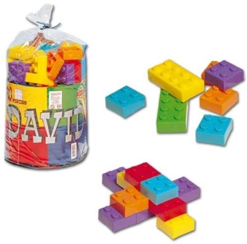 Dorex Dávid építőjáték, zsákban