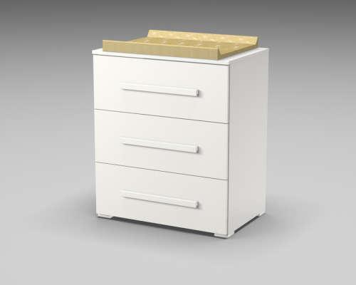 Faktum Lexi pelenkázó szekrény 3 fiókos --fehér