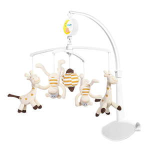 BabyOno plüss zenélő-forgó Crazy little monkeys and giraffes