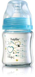BabyOno széles nyakú hőálló Cumisüveg 120ml #kék 30205101 Cumisüveg