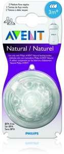 Avent Natural pótcumi közepes folyású 3hó 2db 30205142