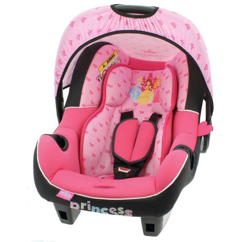 Nania Disney Beone bébihordozó 0-13kg #rózsaszín - hercegnős