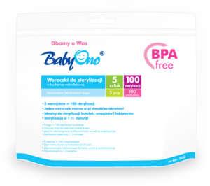 BabyOno mikrós Sterilizáló zacskó 5db