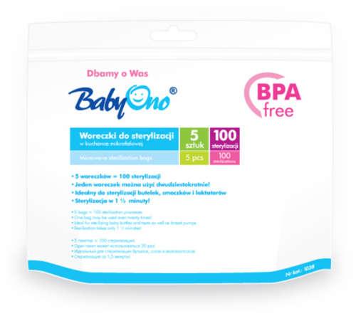 BabyOno mikrós Sterilizáló zacskó #5db