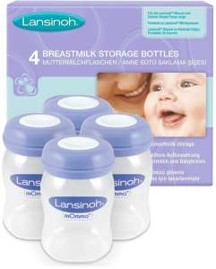 Lansinoh anyatej Tároló palackok 160ml 4db 30205371 Tejgyűjtő kagyló, tejtároló