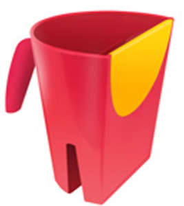 Clevamama hajmosó Kanna #piros 30205434 Hajmosó karika és kancsó