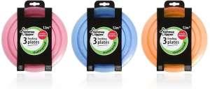 Tommee Tippee Essential Tányér 3db #rózsaszín 30205498