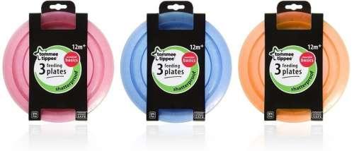 Tommee Tippee essential tányér 3 db --rózsaszín