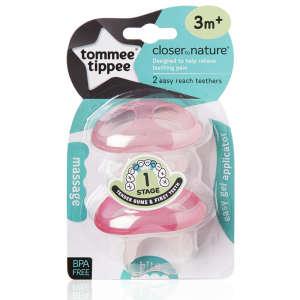 Tommee Tippee CTN Stage1 Rágóka a fogzás kezdetétől 2db #rózsaszín 30493460 Rágóka, csörgő