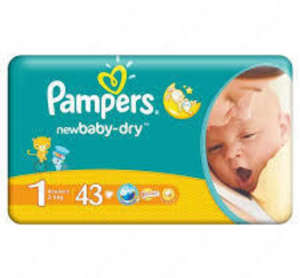 Pampers New Baby-Dry 1 Pelenka 2-6kg (43db) 30205568