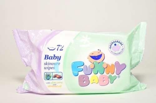 Funny Baby törlőkendő (72db)