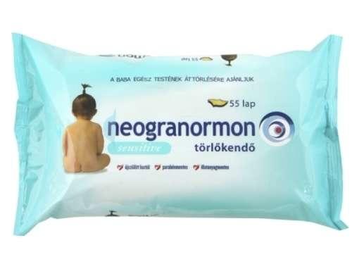 Neogranormon sensitive törlőkendő (55db-os)