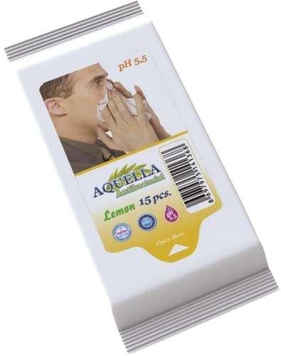 Aquella Antibacterial Lemon nedves törlőkendő (15db)