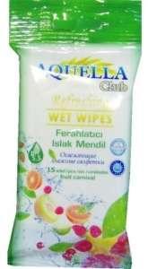 Aquella Club nedves törlőkendő vegyesgyümölcs #15db-os