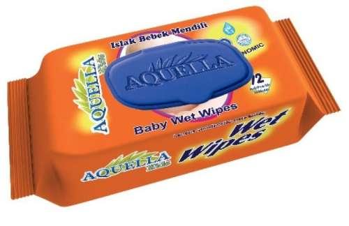 Aquella Kids Baby Eco. nedves törlőkendő #72db, kupakos