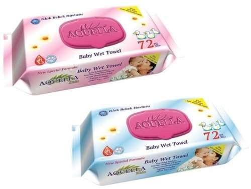 Aquella Kids Baby Mix nedves törlőkendő (kék vagy rózsaszín) (72db) kupakos