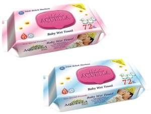 Aquella Kids Baby Mix nedves törlőkendő #kék vagy #rózsaszín 72db kupakos 30205670